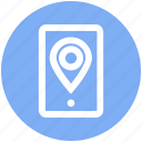 communication, location, maps, mobile, navigation, network, pin icon