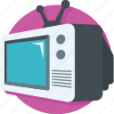 multimedia, television, transmission, tv, tv screen icon