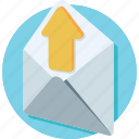 letter, mail, message, outbox, outgoing icon