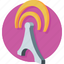 antenna, signal tower, wifi, wifi tower, wireless antenna icon