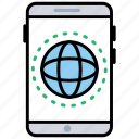 mobile data, mobile internet, mobile network, mobile technology, modern communication icon