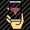 mobile hotspot, mobile wifi, wifi zone, wireless communication, wireless internet icon