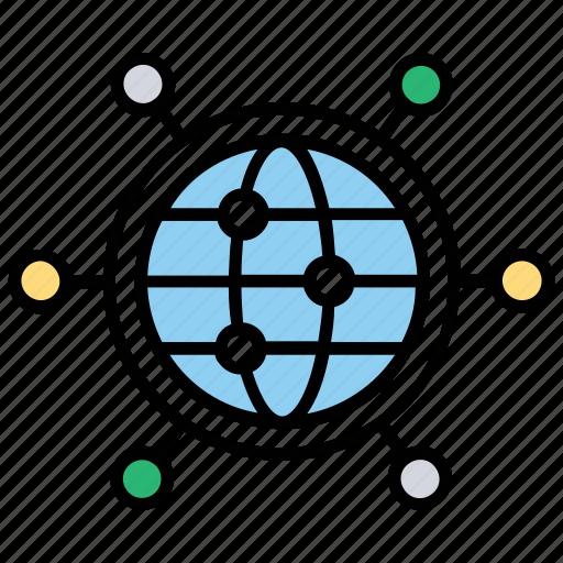global communication, global connection, global network, global network connectivity, global technology icon