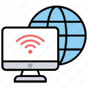 online global communication, wifi connection, internet connection, wifi hotspot, wireless internet icon