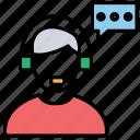 customer care, customer representative, customer support, helpline, telephone service icon