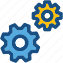 cog wheels, cogs, gear loading, gears, settings icon