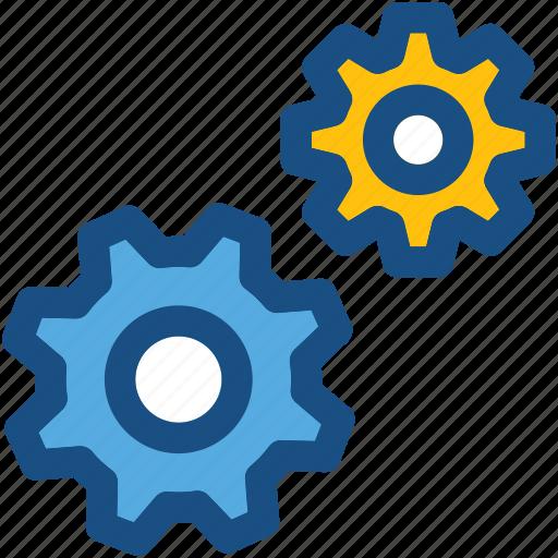 cog wheels, cogs, gear loading, gears, settings icon