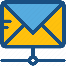 email, email sharing, networking, server email, server network icon