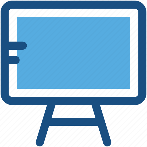blackboard, chalkboard, easel, whiteboard, writing board icon