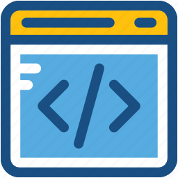 html, html coding, web development, web programming div coding icon