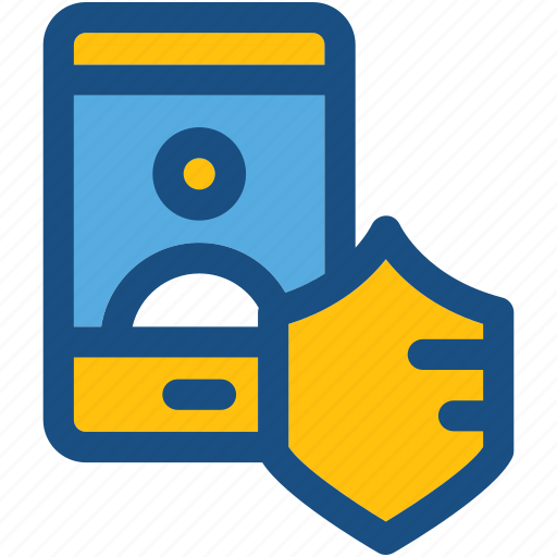 account security, mobile, mobile account, mobile security, shield icon