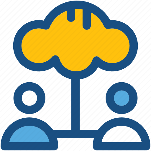cloud computing, cloud users, data storage, social media, storage cloud icon