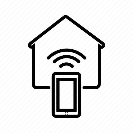 home automation, home network, homegroup, hotspot, iot, wifi icon