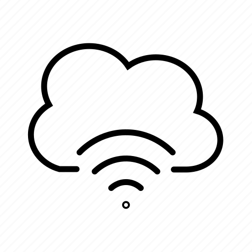 cloud data transfer, cloud storage, internet, network, shared drive, wireless connection icon