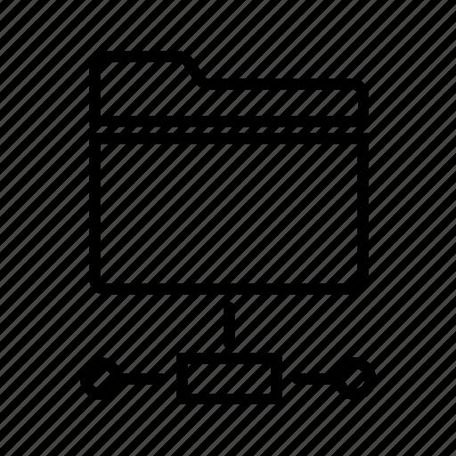 network, share, shared drive, shared files, shared folder icon