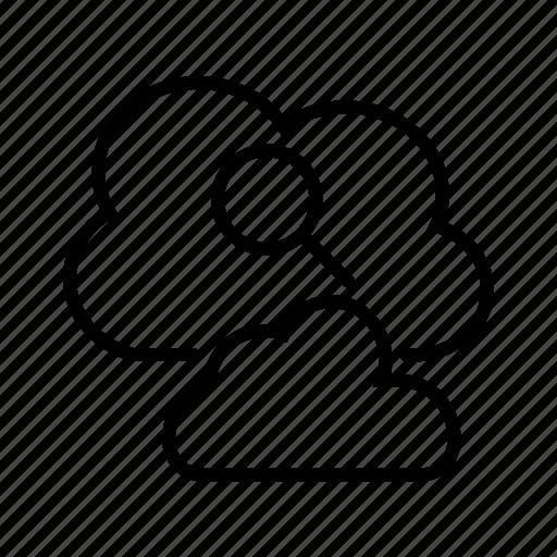 cloud database, cloud network, cloud search, cloud server icon