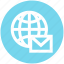 communication, earth, email, envelope, globe, internet, world icon