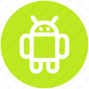 android, robot, mobile, logo
