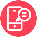 chat, comment, communication, message, mobile, phone, sms