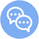 chatting, comments, communication, messages, sms, talk, texts icon