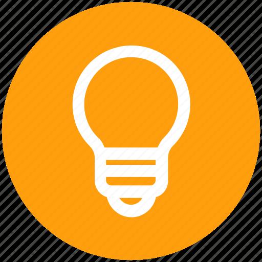 bulb, electricity, idea, lamp, light, light bulb icon