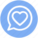 chat, comment, communication, heart, like, love, message