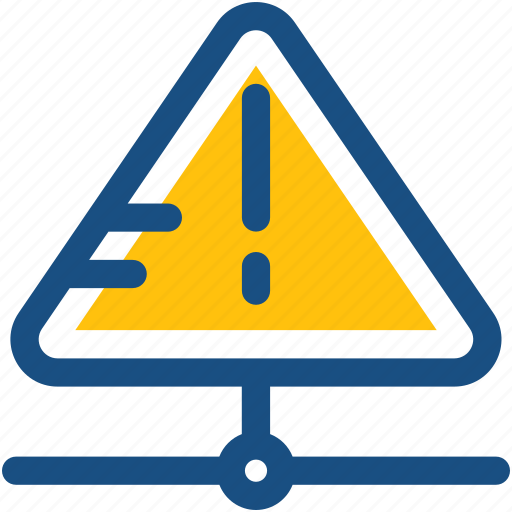 database, database error, database warning, network server, server storage icon