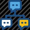 chat bubbles, networking, social community, social media, social network