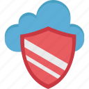 cloud, cloud network, cloud secure, computing, shield icon