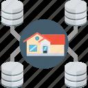 data center, main server, home server, database, data storage, data warehouse