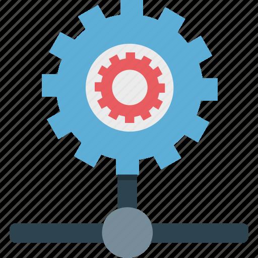 network configure, network setting, server configuration, server repairing, server setting icon