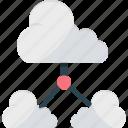 cloud backup, cloud computing, cloud network, cloud service, cloud share icon