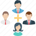 business network, collaboration, employee, freelancers, team icon