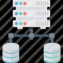 database, database network, networking, server hosting, share network icon
