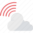 cloud computing, cloud network, icloud, signals, wifi cloud icon