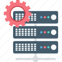 cogwheel, hosting, rack, server, settings icon