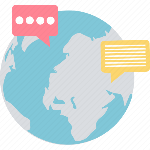 chat, community network, global communication, multilingual, worldwide icon