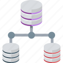 database hosting, database server, database topologies, hosting, main server icon