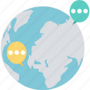 communication, community network, global, global chat, global conversation icon