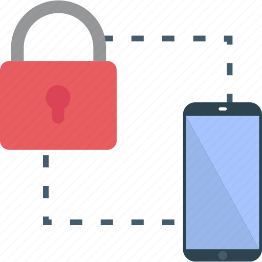 authentication, data locked, data protection, mobile password, mobile security icon