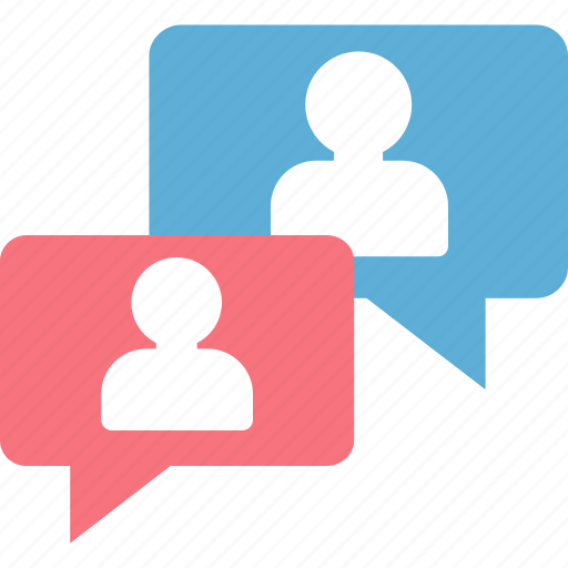 bubble, chat, colleagues, communication, discussion icon