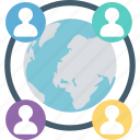 conversation, global, global business, global community, global connection icon