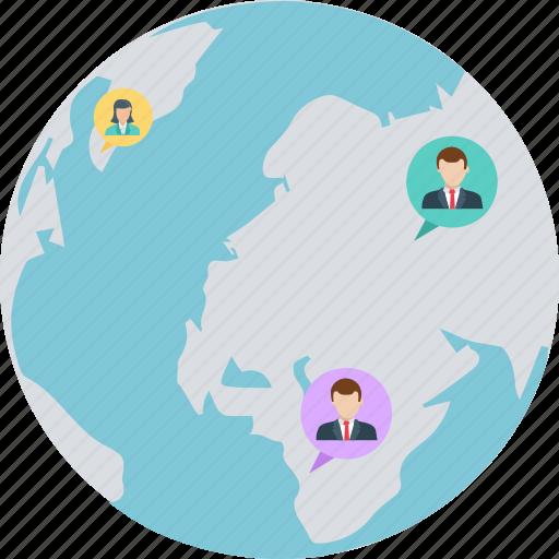 chat, community network, global communication, multilingual, worldwide chat icon