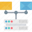 directory server, email marketing, email networking, envelope, server message icon