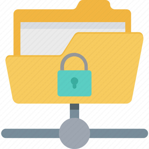 confidential, data encryption, data security, protected folder, secure data folder icon