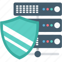 cyber security, data protection, database, internet security, server protection icon
