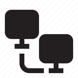 computer, connection, data, file, oneway, sharing, transfer icon