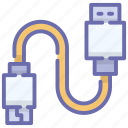 data cable, usb cord, usb jack, usb plug icon