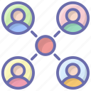 community, customers, profiles, social group, user groups, users icon