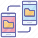 connected devices, data connected, data sharing, files sharing, mobile app icon